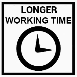 longer working time