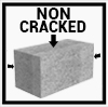 non cracked concrete
