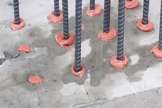 Wet concrete epoxy chemical anchor